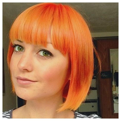 Short Bob In Apricot Ins Hair Pinterest Dyed Hair Hair And