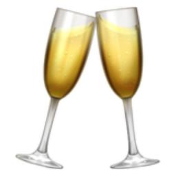 The Clinking Glasses Emoji On Iemoji Com Emoji Champagne Flute People S Friend