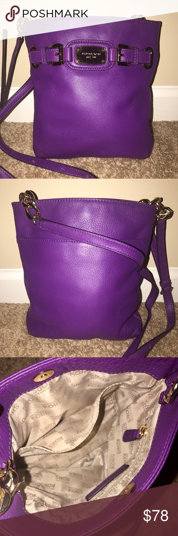 1a7070ea1148 Authentic Purple Michael Kors Purse Authentic Purple Michael Kors Purse •  Crossbody Style • Brand New Without Tags
