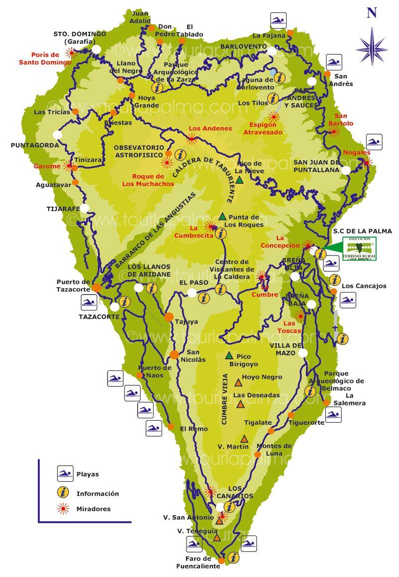 Map Of San Miguel De La Palma Also Known As La Palma Canary