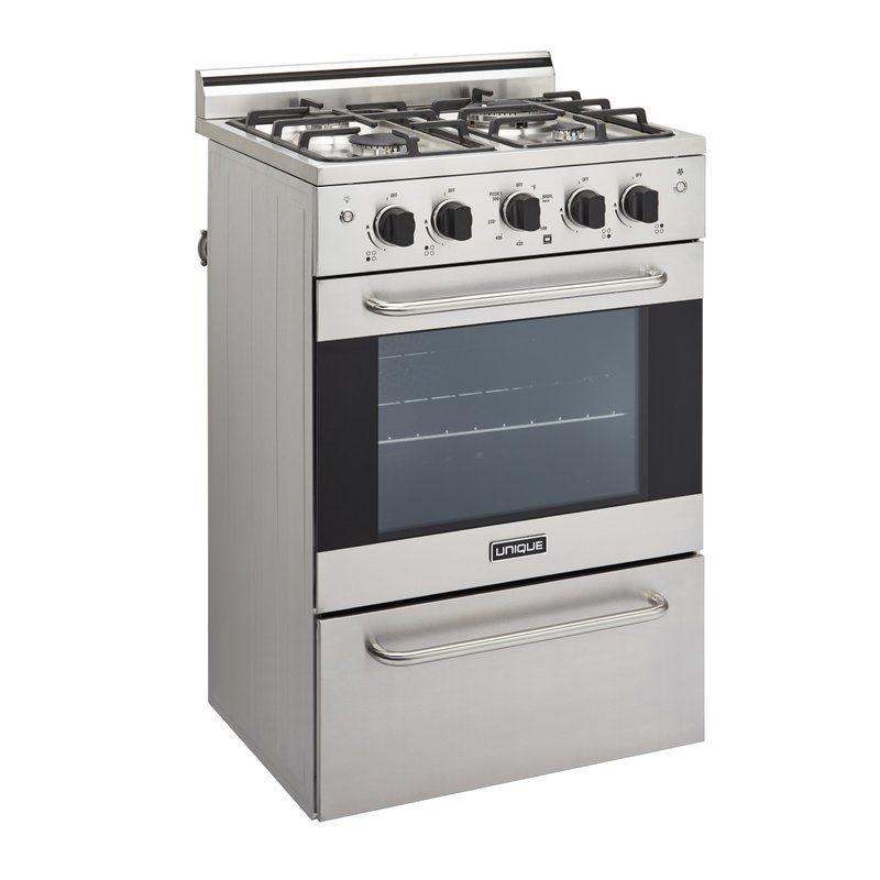 Prestige 24 2 3 Cu Ft Freestanding Gas Range Convection Cooking Oven Racks Single Oven