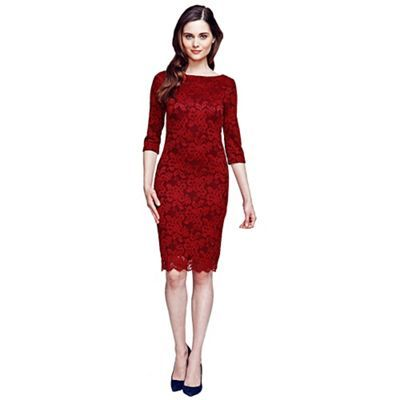 Long sleeved lace knee length dress with HotSquash's CleverTech. Bet you never thought a dress that looks this good could be thermal. Keep warm whilst looking stylish.