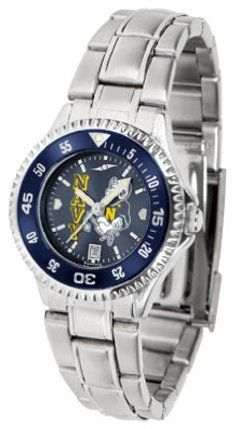 Navy Midshipmen Competitor AnoChrome Ladies Watch with Steel Band and Colored Bezel by SunTime. $91.67. Showcase the hottest design in watches today! The functional rotating bezel is color-coordinated to compliment the Navy Midshipmen logo. The Competitor Steel utilizes an attractive and secure stainless steel band.The AnoChrome dial option increases the visual impact of any watch with a stunning radial reflection similar to that of the underside of a CD. Perce...