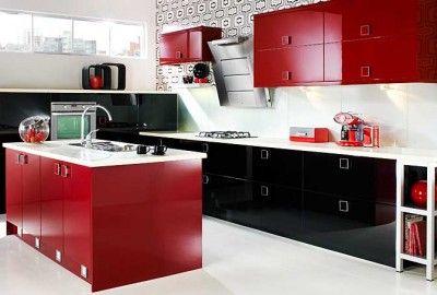 Pinida Quinnie On Design Ideas  Pinterest  Red Kitchen Work Extraordinary Kitchen Design Red And Black Design Ideas