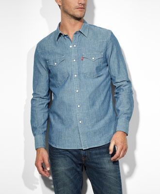 52a1450cee Levi s Barstow Western Shirt - Chambray - Western Shirts