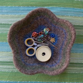 Felted Flower Bowl pattern by Meg Myers