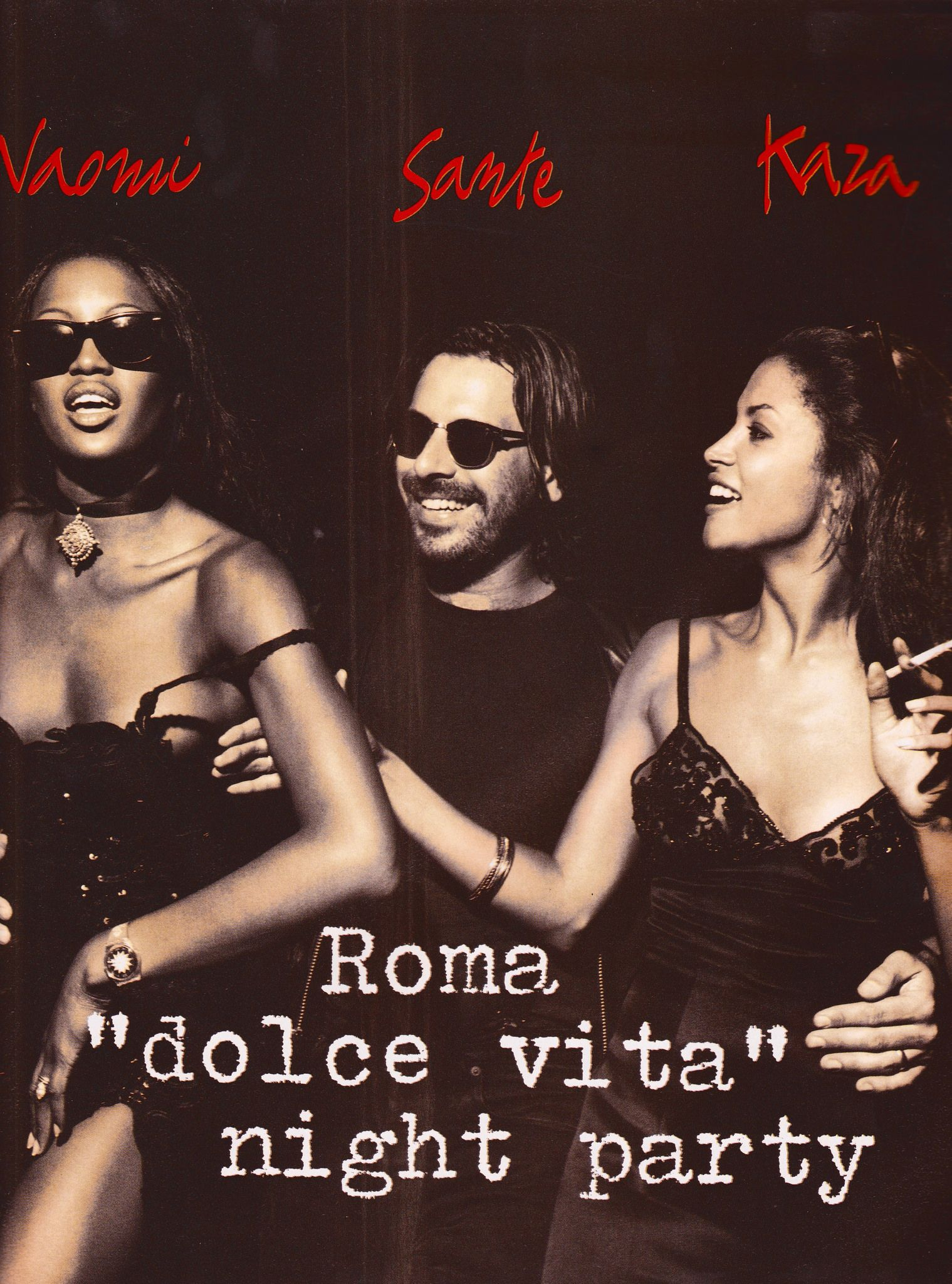 "https://flic.kr/p/JKz2Nu | Vogue Italia ""Roma, Dolce Vita Night Party"" Sett. 1992 (2) 