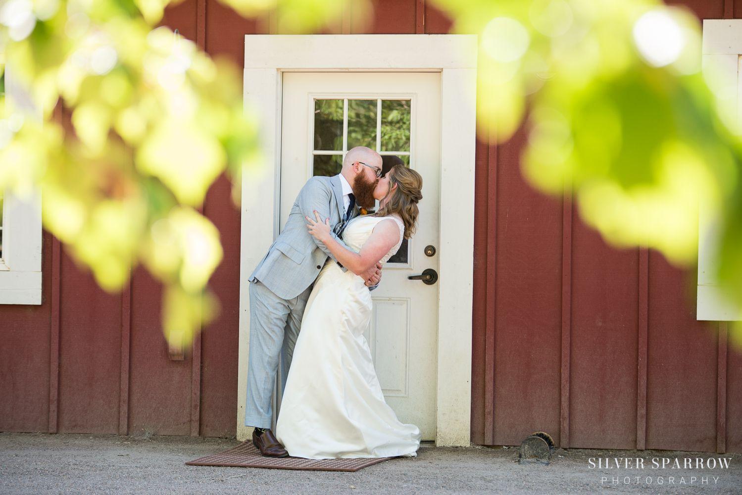 Just had to share another photo from Kevin and Elizabeth's Hudson Gardens wedding earlier this month. They are the sweetest!!   www.silversparrowphoto.com  #LittletonWeddingPhotographer #wedding #weddinginspiration #barnwedding #denverwedding #coloradowedding