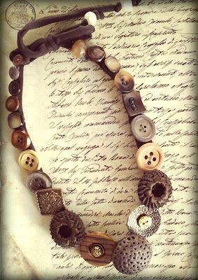 selezionare per lo spazio nuove immagini di nuovi arrivi buttons necklaces, collane con bottoni | Button Jewelry ...
