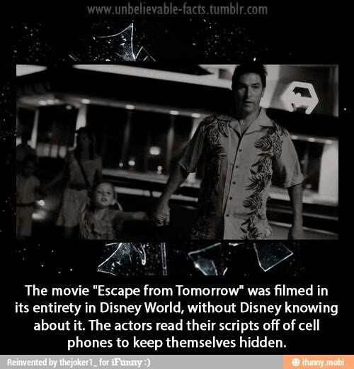 Tonights film: #EscapeFromTomorrow Very creative black comedy about a man's mental breakdown at Disney World.3 stars
