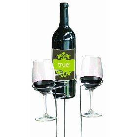 """Wine stakes for picnics and concerts on the green. If there is one thing I hate, it's drinking wine out of plastic cups, but stemmed glasses and grass don't go well together. Spilling wine is also a cardinal sin in my book, so if you're """"wining and dining"""" in the grass, these stakes are a must have."""