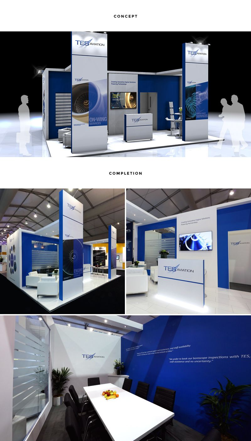 RTH worked with TES Aviation for the first time to deliver their exceptional stand at Farnborough air show in just three months. The extremely fast turnaround illustrates RTH's flexibility and design capabilities.