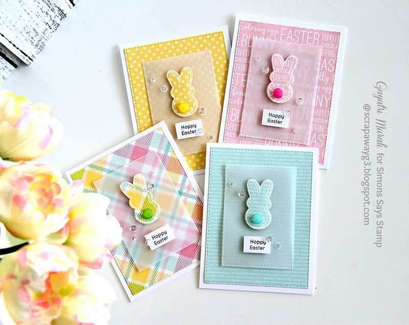 A set of Easter cards Simon Says Stamp March Card Kit Handmade – Easter Stamps Card Making