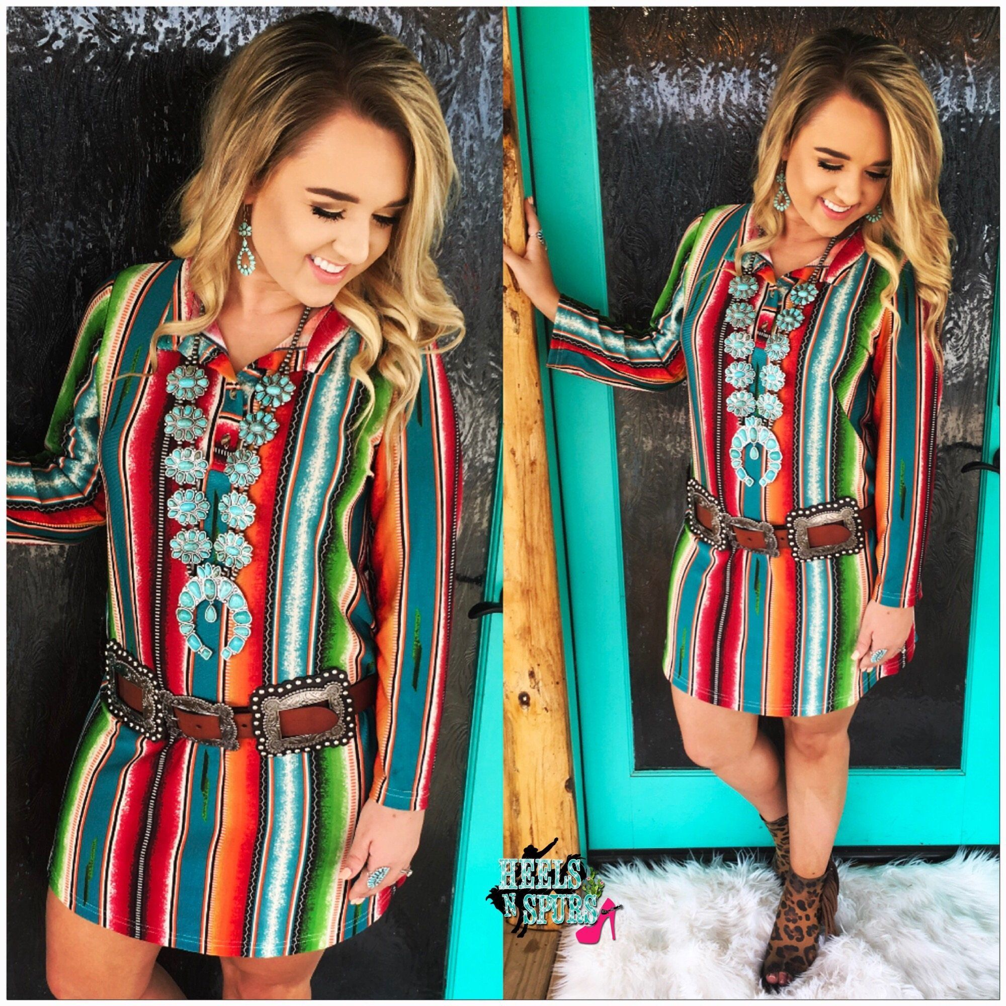 Southern Days Serape Dress  Dresses  Dresses, Fashion -8862
