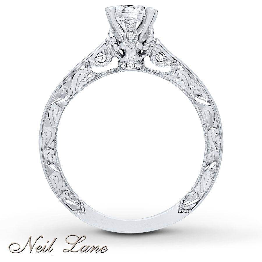 Neil Lane Engagement Ring 1 Ct Tw Diamonds 14k White Gold Neil Lane Engagement Rings Small Engagement Rings Engagement Rings