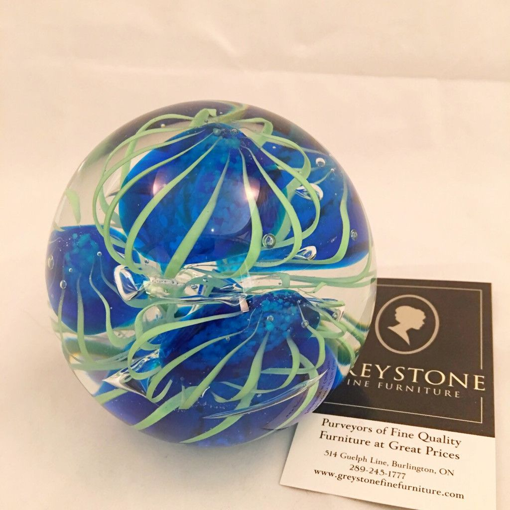 Blue and green jellyfish large paperweight $35
