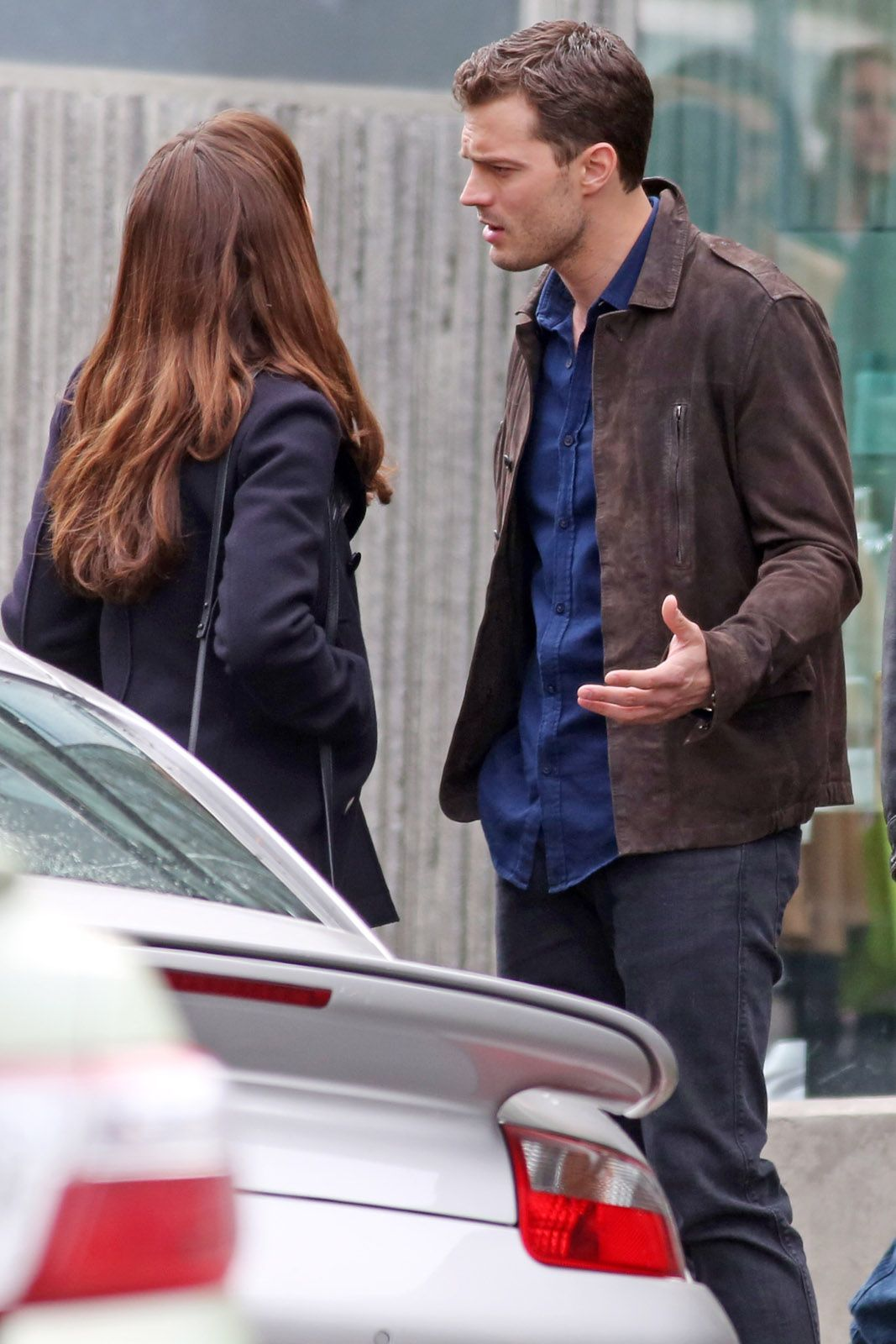 Jamie Dornan And Dakota Johnson On The Fifty Shades Darker Set