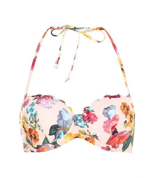 7fc331bdad14 Ted Baker Oil painting scalloped bikini top