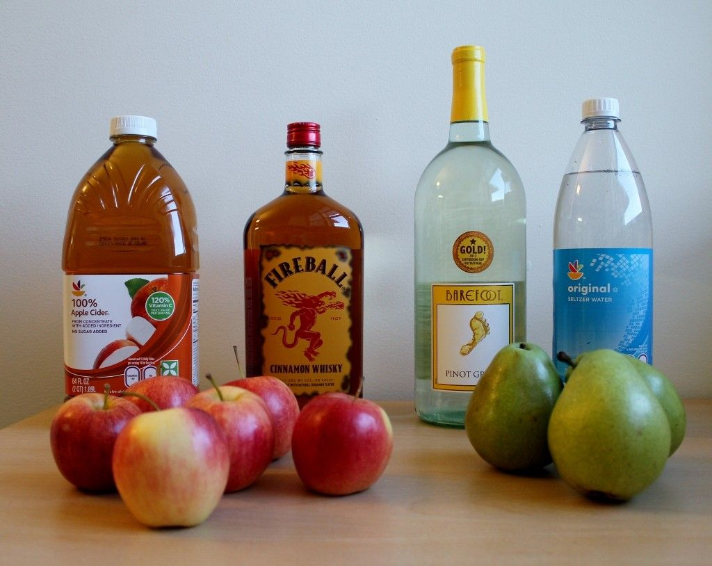 How to Make Apple Cider Fireball Sangria #applecidersangriarecipe