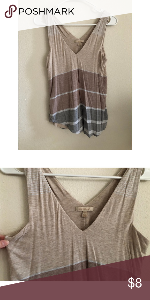 fcf453131f Bordeaux by Anthropologie Tank XS V-Neck Tank Thick straps Arm and side  have thick