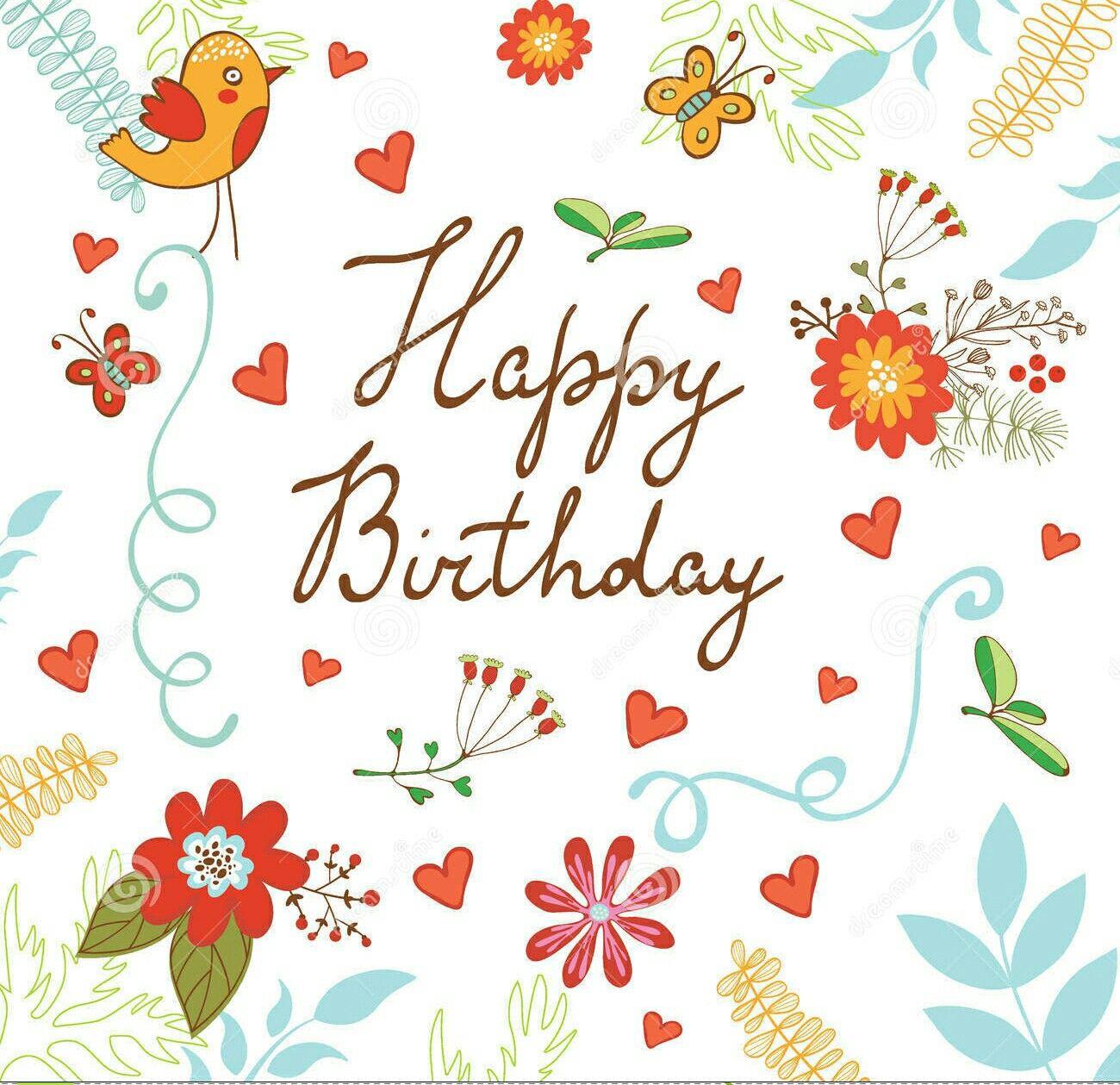 Happy Birthday Happybirthday Flowers Bird Birthday Wishes