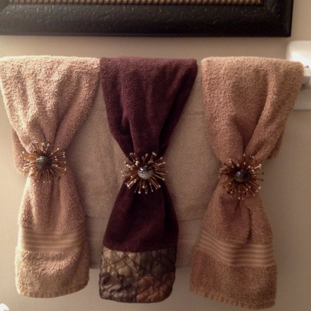 Hanging Decorative Towels In Bathroom. How To Decorate With Towels Google Search