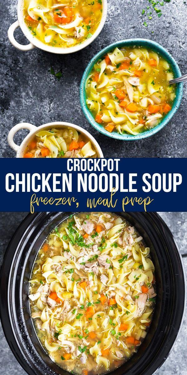 Crockpot Chicken Noodle Soup Sweetpeasandsaffron Com Recipe Chicken Noodle Soup Crock Pot Crockpot Chicken Healthy Crockpot Chicken