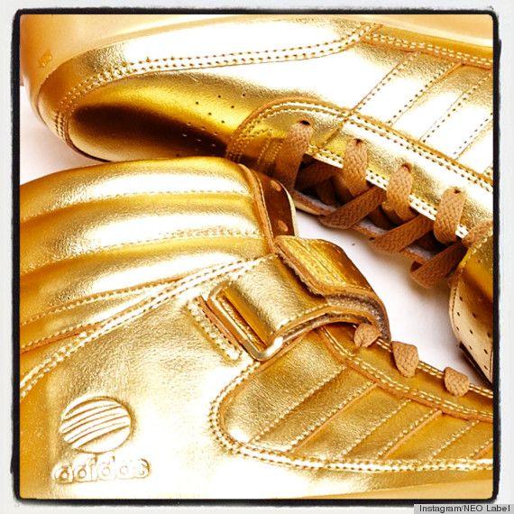 zapatillas doradas adidas justin bieber