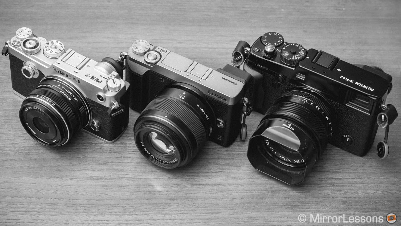 Fuji X-Pro2 vs  Olympus Pen F vs  Panasonic GX85 - The monochrome