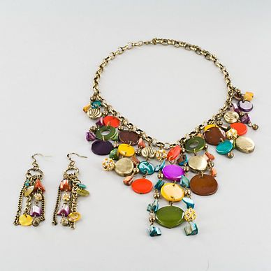 colorful bib necklace