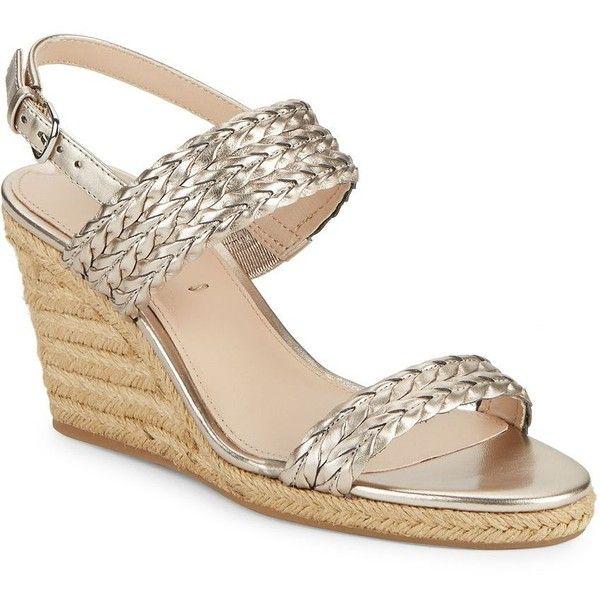 3fe60e2715e Via Spiga Indira Metallic Espadrille Wedge Sandals ($146) ❤ liked ...