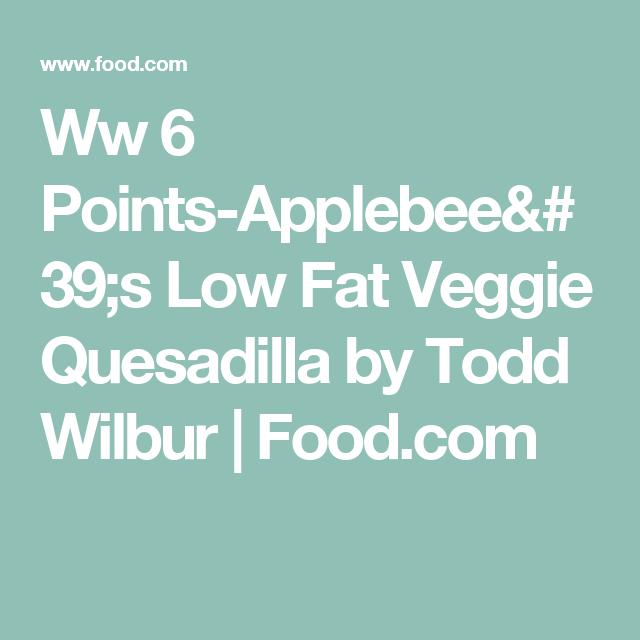 Ww 6 Points-Applebee's Low Fat Veggie Quesadilla by Todd Wilbur | Food.com