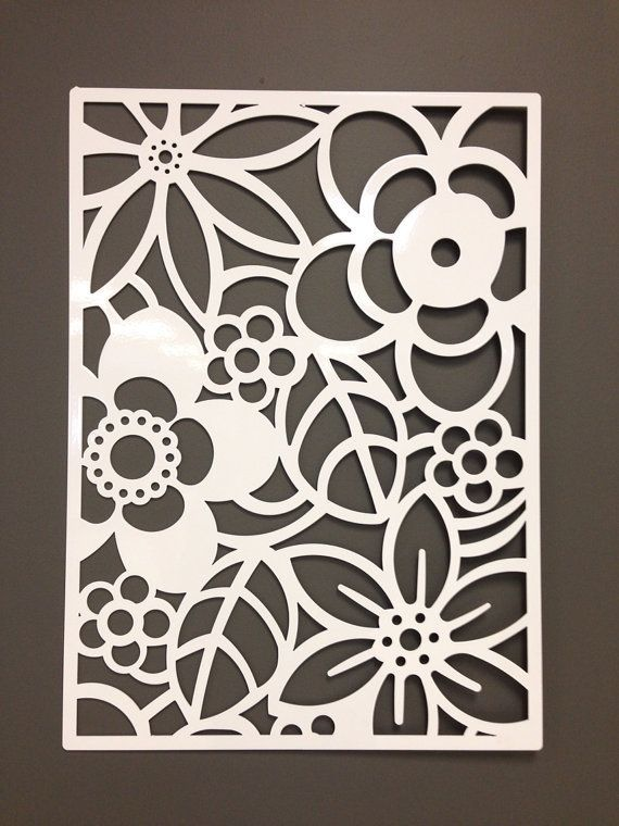 Wall Cut Out Designs : For the back patio wall abstract flower metal or