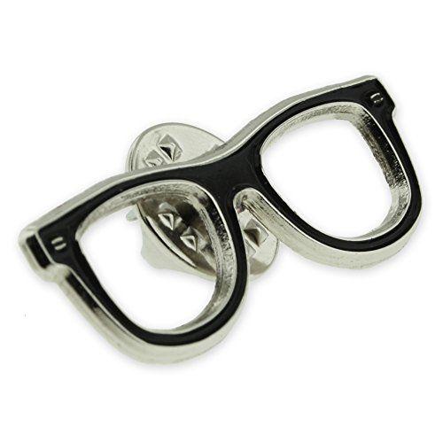 Pinmart Black Glasses Frames Enamel Lapel Pin Optometry