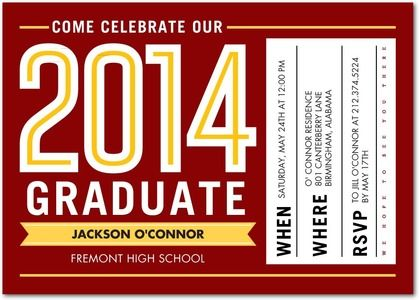 Grand Celebration Graduation Invitations Southern Living