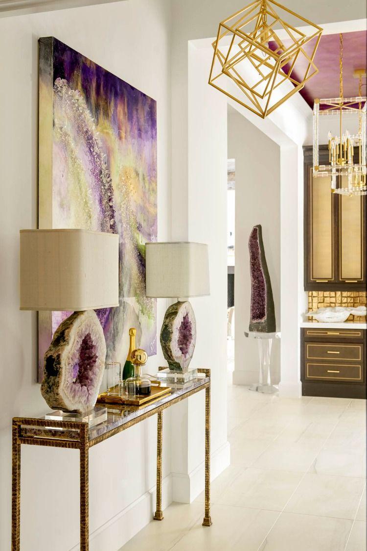 Backlit Stone Decor Traditional Interior Design Stone Decor Decor