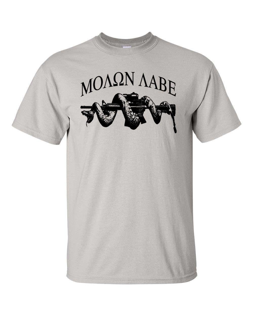 Gildan 100 Cotton T Shirts For Man Molon Labe Ar15 Snake Pro Gun Tendencies Tshirt Fast Runner Putih Xxl Control