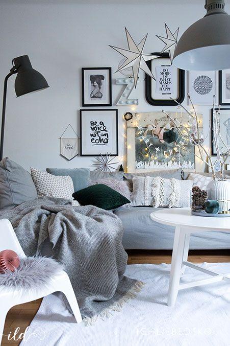 Skandinavische weihnachtsdeko im wohnzimmer jetzt wird s - Weihnachten wohnzimmer ...