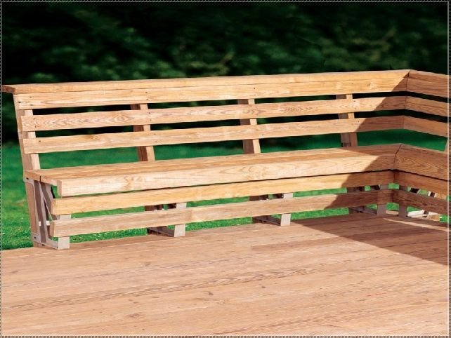 Building Deck Benches with Backs deck bench seat with back plans