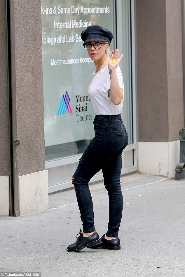 Make Up Free Lady Gaga Steps Out Of New York Recording Studio My