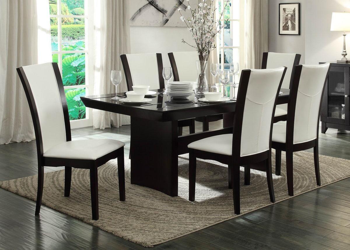 Carli 5pc Dinette White White Dining Sets Glass Top Dining Table Dining Room Sets Dinette