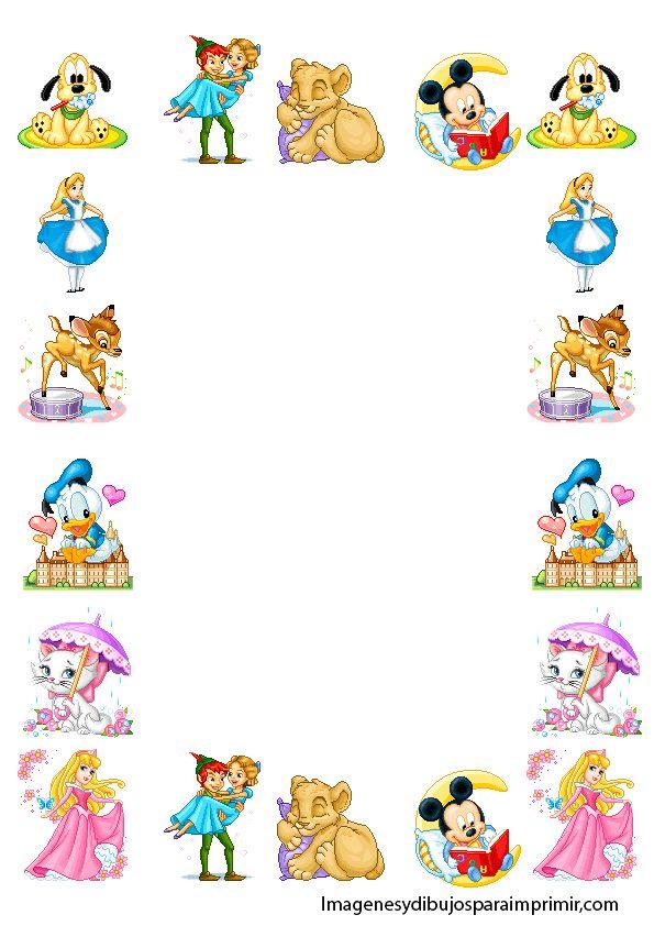 Marcos para folios infantiles para imprimir-Imagenes y dibujos para ...