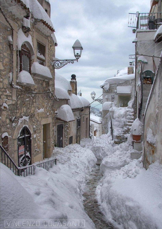 Photo of Vico del Gargano #winterlandscape Vico del Gargano