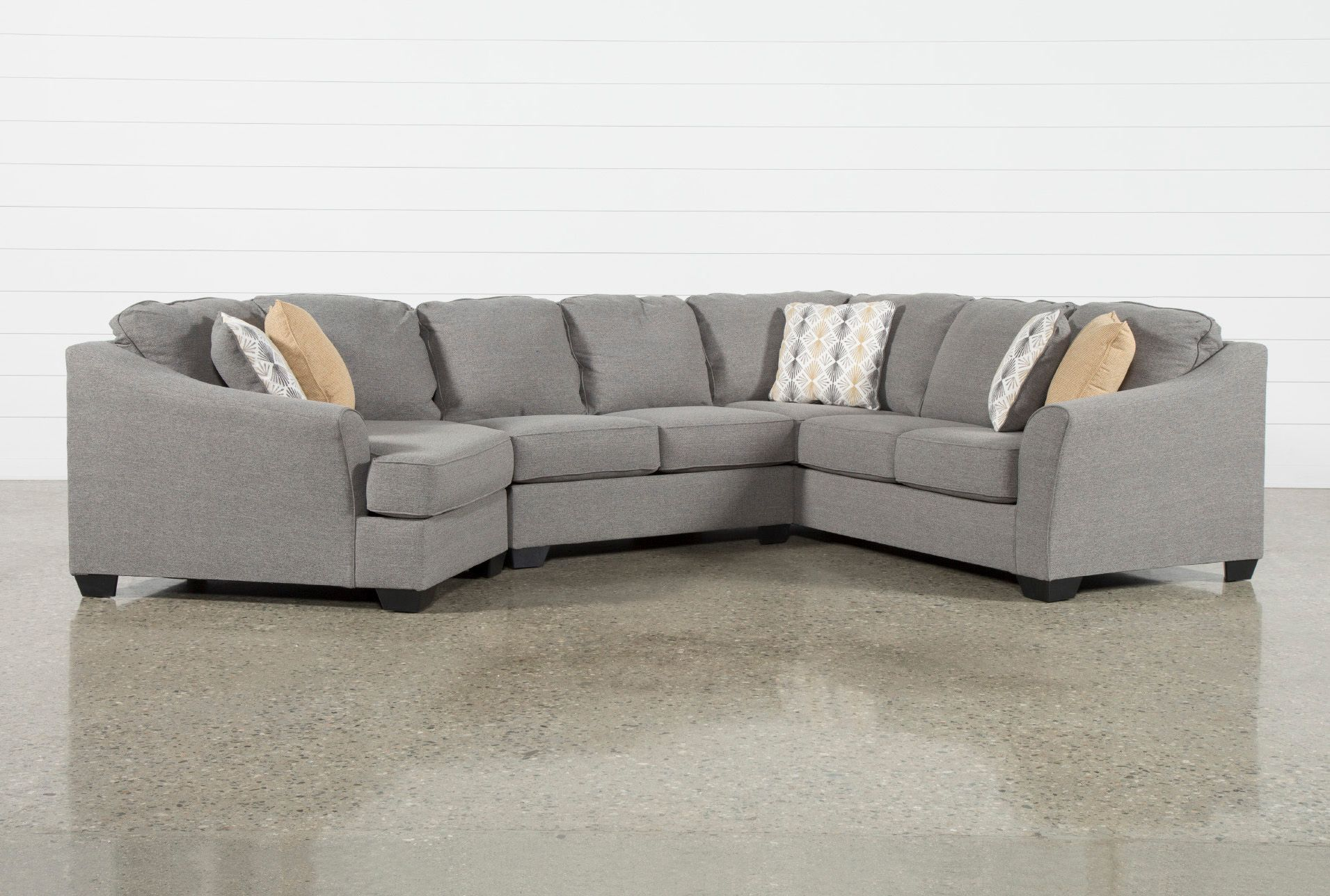 Best Ashley Fenton 3 Piece Sectional Sofa With Left Arm Facing 400 x 300