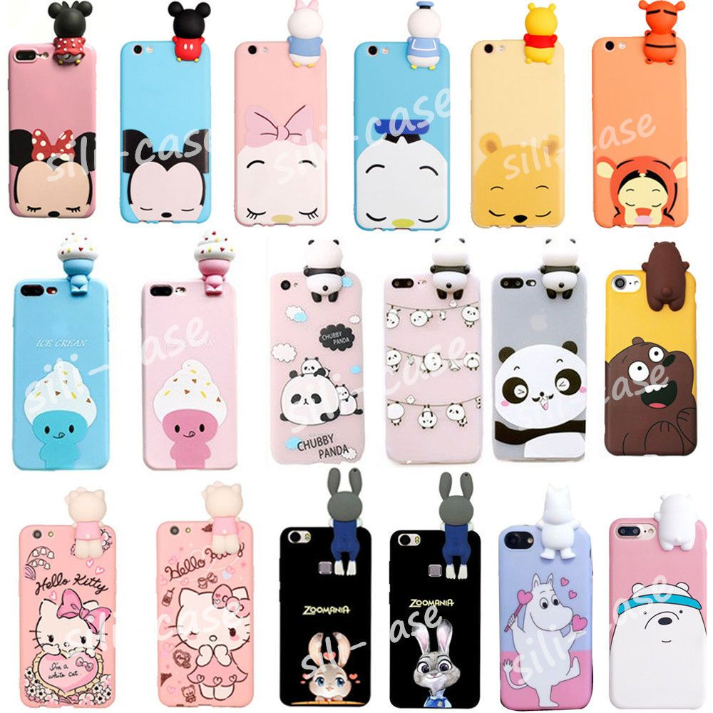 3D Cartoon Disney Dolls Soft Silicone Phone Case Cover For iPhone ...