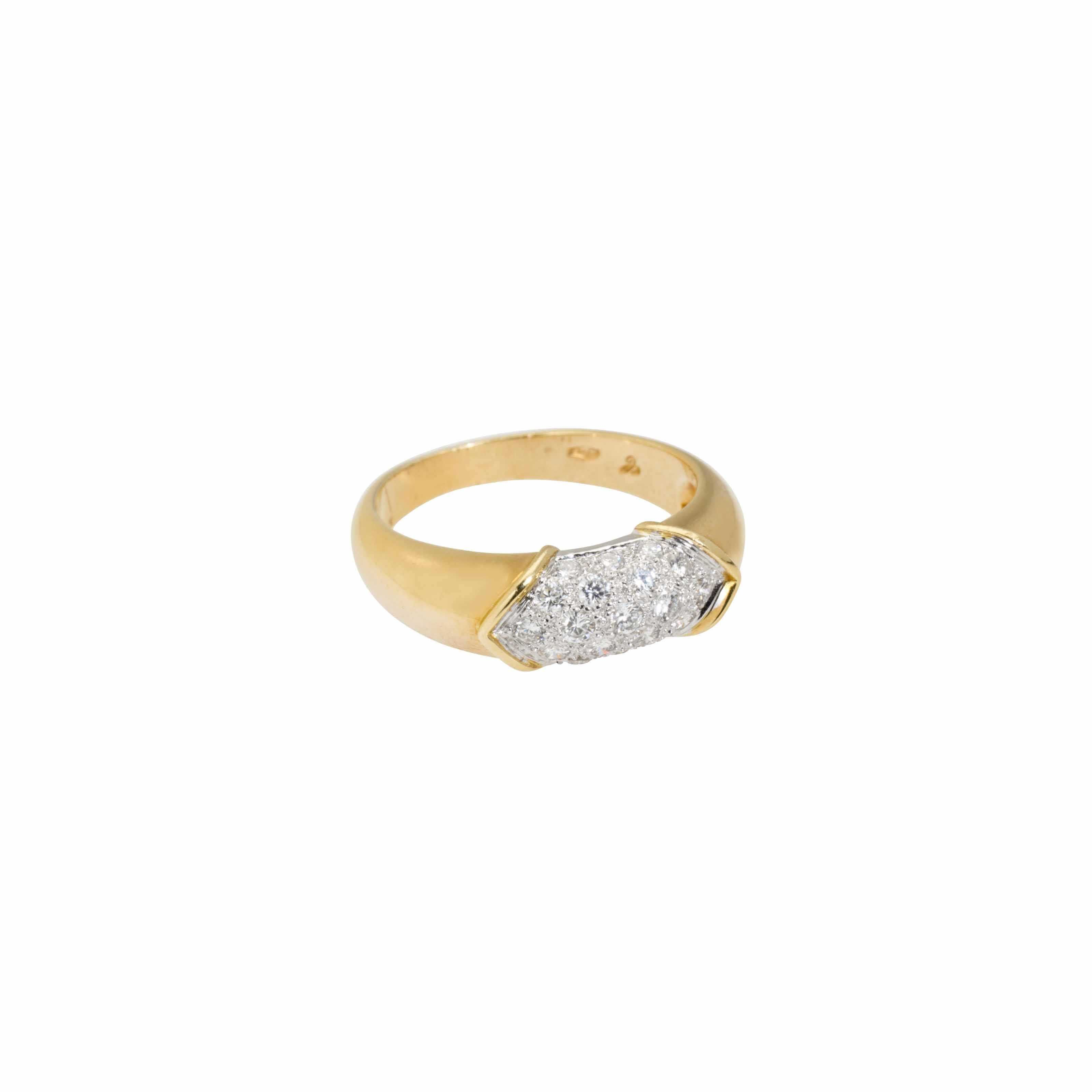 A Diamond and Gold Engagement Ring #christiesjewels  #engagement #engagementring #diamondring