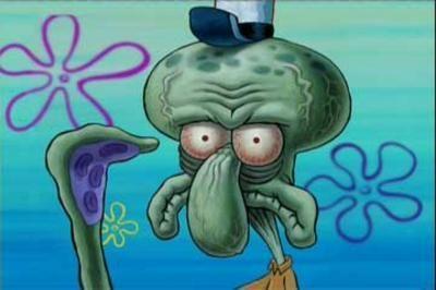 Squidward Unsure Face