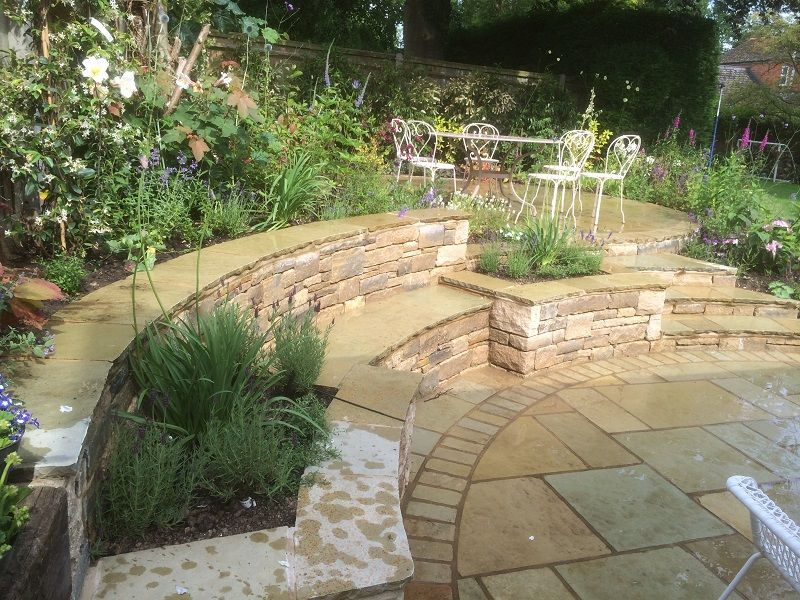 Split Level Indian Patio Design By Pete Sims Garden Design