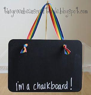 hanging chalkboard