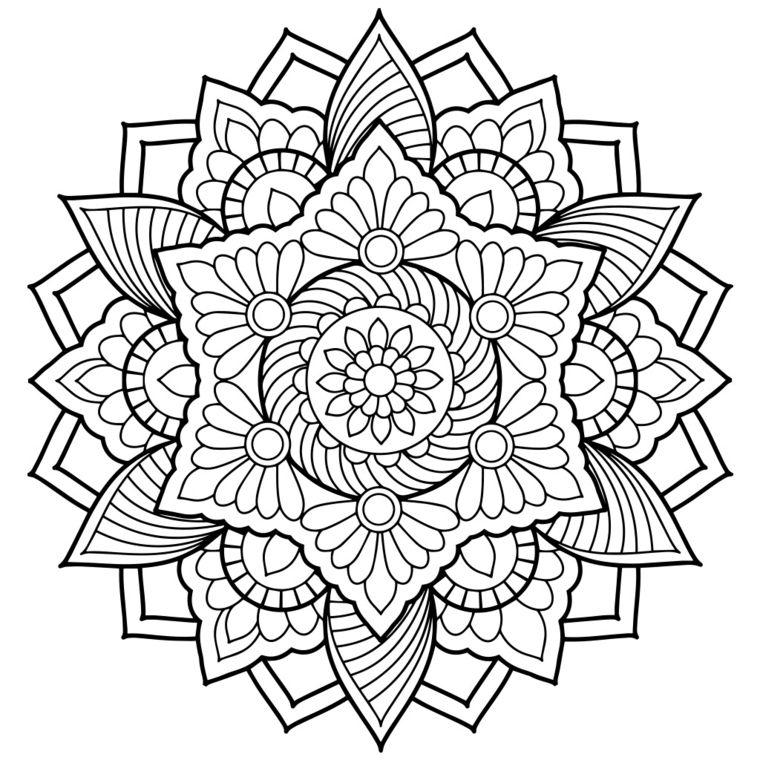 Disegni Da Colorare Mandala Da Stampare.Mandala Da Colorare E Stampare Disegno Con Cerchi Disegno Da Colorare Disegni Da Colorare Astratti Disegno Di Mandala Pagine Da Colorare Per Adulti